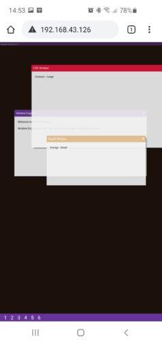 Desktop look a like website written in HTML/CSS/Javascript running on a ESP32Wroom microcontroller